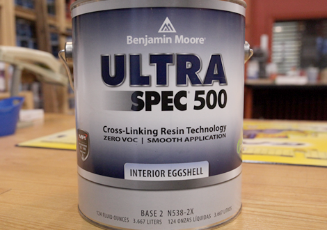 Interior and exterior paint village paint and decorating - Benjamin moore ultra spec exterior ...