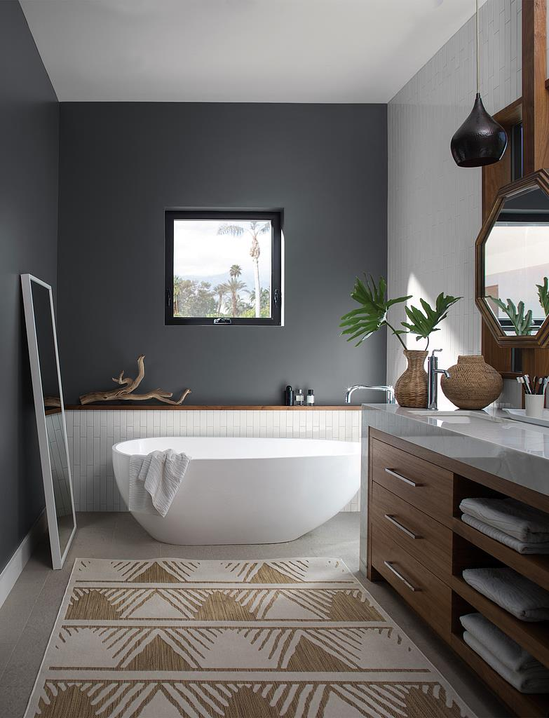Benjamin Moore Gray Paint Schenectady | Bathroom Paint